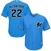 Miami Marlins #22 Sandy Alcantara Blue New Cool Base Stitched MLB Jersey