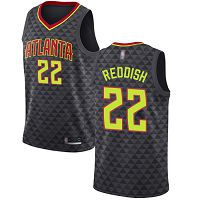 Atlanta Hawks #22 Cam Reddish Black NBA Swingman Icon Edition Jersey
