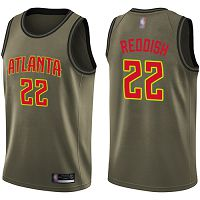 Atlanta Hawks #22 Cam Reddish Green Salute to Service NBA Swingman Jersey