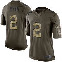 Atlanta Falcons #2 Matt Ryan Green Men's Stitched NFL Limited 2015 Salute to Service Jersey
