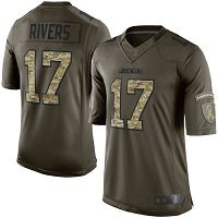 Los Angeles Chargers #17 Philip Rivers Green Men's Stitched NFL Limited 2015 Salute to Service Jersey
