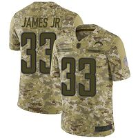 Los Angeles Chargers #33 Derwin James Jr Camo Men's Stitched NFL Limited 2018 Salute To Service Jersey