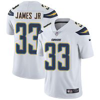 Los Angeles Chargers #33 Derwin James Jr White Women's Stitched NFL Vapor Untouchable Limited Jersey