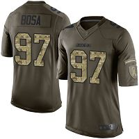 Los Angeles Chargers #97 Joey Bosa Green Women's Stitched NFL Limited 2015 Salute to Service Jersey