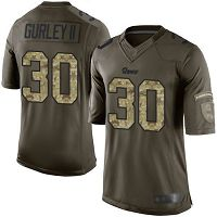 Los Angeles Rams #30 Todd Gurley II Green Men's Stitched NFL Limited 2015 Salute to Service Jersey