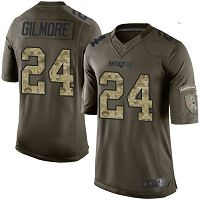 New England Patriots #24 Stephon Gilmore Green Men's Stitched NFL Limited 2015 Salute To Service Jersey