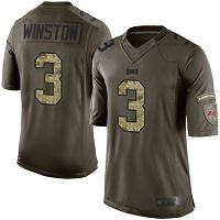 Tampa Bay Buccaneers #3 Jameis Winston Green Men's Stitched NFL Limited 2015 Salute To Service Jersey