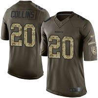 Washington Redskins #20 Landon Collins Green Men's Stitched NFL Limited 2015 Salute To Service Jersey