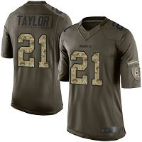 Washington Redskins #21 Sean Taylor Green Men's Stitched NFL Limited 2015 Salute To Service Jersey