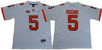 Women's Clemson Tigers #5 Tee Higgins White Limited Stitched NCAA Jersey