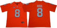 Women's Clemson Tigers #8 Justyn Ross Orange Limited Stitched NCAA Jersey
