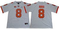 Women's Clemson Tigers #8 Justyn Ross White Limited Stitched NCAA Jersey