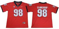 Women's Georgia Bulldogs #98 Rodrigo Blankenship Red Limited Stitched NCAA Jersey