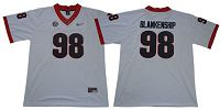 Women's Georgia Bulldogs #98 Rodrigo Blankenship White Limited Stitched NCAA Jersey
