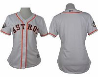Women's Houston Astros Blank White Home 2019 World Series BoundStitched MLB Jersey