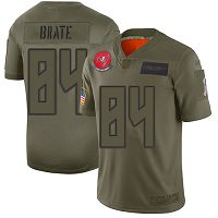 Men's Tampa Bay Buccaneers #84 Cameron Brate Camo Stitched NFL Limited 2019 Salute To Service Jersey