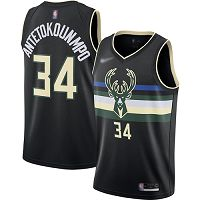 Milwaukee Bucks #34 Giannis Antetokounmpo Black NBA Swingman Statement Edition 2019/2020 Jersey