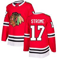 Chicago Blackhawks #17 Dylan Strome Red Home Authentic Stitched NHL Jersey