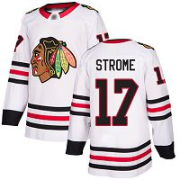 Chicago Blackhawks #17 Dylan Strome White Road Authentic Stitched NHL Jersey
