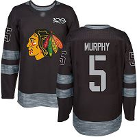 Chicago Blackhawks #5 Connor Murphy Black 1917-2017 100th Anniversary Stitched NHL Jersey