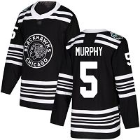 Chicago Blackhawks #5 Connor Murphy Black Authentic 2019 Winter Classic Stitched NHL Jersey