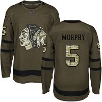 Chicago Blackhawks #5 Connor Murphy Green Salute to Service Stitched NHL Jersey