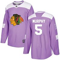 Chicago Blackhawks #5 Connor Murphy Purple Authentic Fights Cancer Stitched NHL Jersey