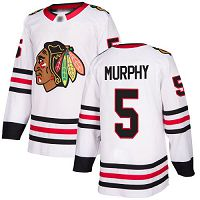 Chicago Blackhawks #5 Connor Murphy White Road Authentic Stitched NHL Jersey