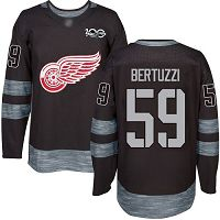 Detroit Red Wings #59 Tyler Bertuzzi Black 1917-2017 100th Anniversary Stitched NHL Jersey