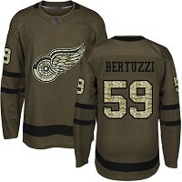 Detroit Red Wings #59 Tyler Bertuzzi Green Salute to Service Stitched NHL Jersey