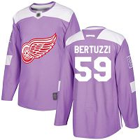 Detroit Red Wings #59 Tyler Bertuzzi Purple Authentic Fights Cancer Stitched NHL Jersey