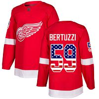 Detroit Red Wings #59 Tyler Bertuzzi Red Home Authentic USA Flag Stitched NHL Jersey