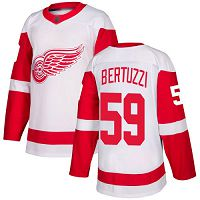 Detroit Red Wings #59 Tyler Bertuzzi White Road Authentic Stitched NHL Jersey