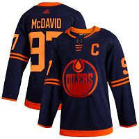 Edmonton Oilers #97 Connor McDavid Navy Alternate Authentic Stitched NHL Jersey