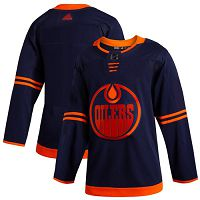 Edmonton Oilers Blank Navy Alternate Authentic Stitched NHL Jersey