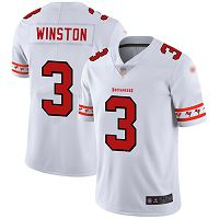 Tampa Bay Buccaneers #3 Jameis Winston White Men's Stitched NFL Limited Team Logo Fashion Jersey