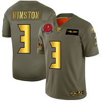 Men's Tampa Bay Buccaneers #3 Jameis Winston Camo/Gold Stitched NFL Limited 2019 Salute To Service Jersey