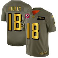 Men's Atlanta Falcons #18 Calvin Ridley Camo/Gold Stitched NFL Limited 2019 Salute To Service Jersey