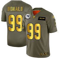 Men's Los Angeles Rams #99 Aaron Donald Camo/Gold Stitched NFL Limited 2019 Salute To Service Jersey