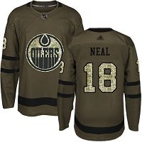 Edmonton Oilers #18 James Neal Green Salute to Service Stitched NHL Jersey