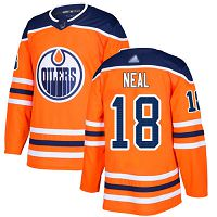 Edmonton Oilers #18 James Neal Orange Home Authentic Stitched NHL Jersey