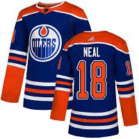 Edmonton Oilers #18 James Neal Royal Alternate Authentic Stitched NHL Jersey