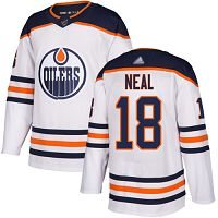 Edmonton Oilers #18 James Neal White Road Authentic Stitched NHL Jersey