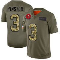 Tampa Bay Buccaneers #3 Jameis Winston Olive/Camo Men's Stitched NFL Limited 2019 Salute To Service Jersey