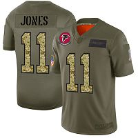 Atlanta Falcons #11 Julio Jones Olive/Camo Men's Stitched NFL Limited 2019 Salute To Service Jersey