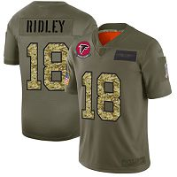Atlanta Falcons #18 Calvin Ridley Olive/Camo Men's Stitched NFL Limited 2019 Salute To Service Jersey