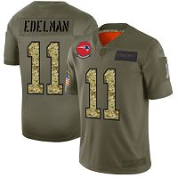 New England Patriots #11 Julian Edelman Olive/Camo Men's Stitched NFL Limited 2019 Salute To Service Jersey