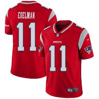 New England Patriots #11 Julian Edelman Red Men's Stitched NFL Limited Inverted Legend Jersey