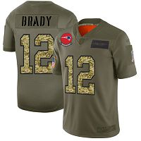 New England Patriots #12 Tom Brady Olive/Camo Men's Stitched NFL Limited 2019 Salute To Service Jersey