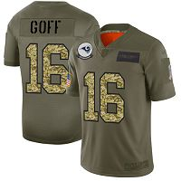 Los Angeles Rams #16 Jared Goff Olive/Camo Men's Stitched NFL Limited 2019 Salute To Service Jersey